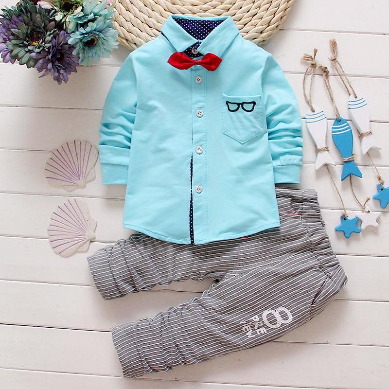 2016 New Spring Kids Clothes Baby Boy Sports Clothing Set 2pcs Set Suit Casual Baby T-shirt + Pants Boys Costume Child Set