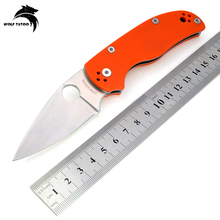 WTT C41 Hunting Pocket Folding Knife D2 Blade G10 Handle Utility Tactical Camping Multi Tools Outdoor Combat Survival EDC Knives
