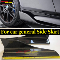 Fits For HONDA S660 Carbon Fiber Side Skirt Bumper body kits For HONDA S660 Coupe Black Side skirt ADD ON Diffusers 57CM E Style