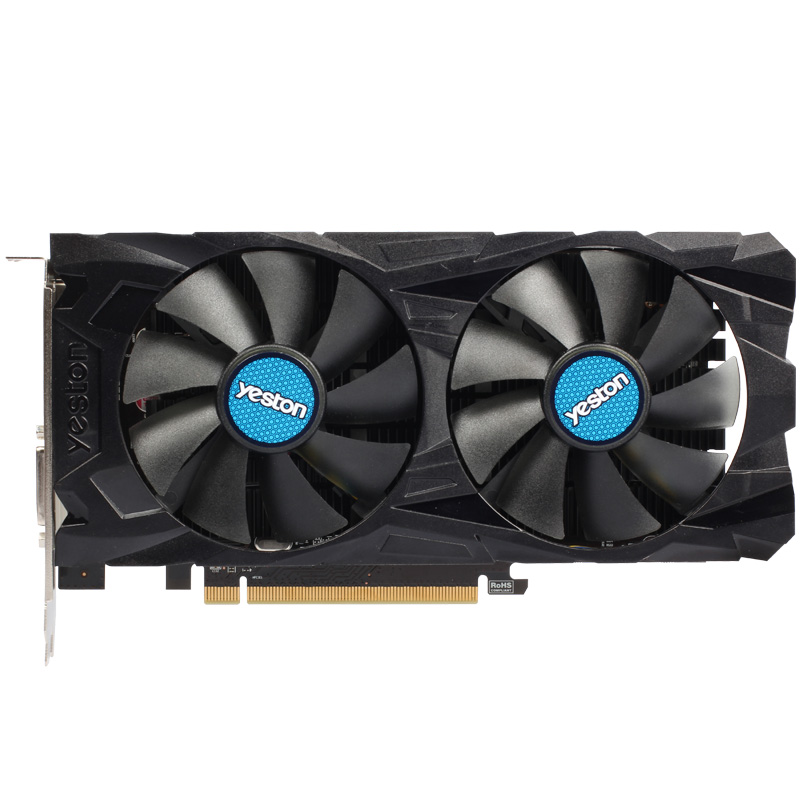 Yeston GAEA RX460 4G DDR5 video card for desktop dual fans 4GD5 graphic card 1200/7000MHz DirectX 12 3 years warranty