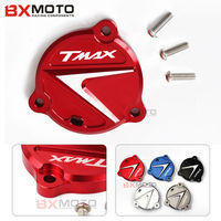Fashion Red Aluminum CNC Motorcycle Accessories Frame Hole Cover Front Drive Shaft Cover Guard For Yamaha
