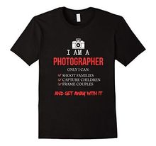 FUNNY I AM A PHOTOGRAPHER T-SHIRT Cool Meme Camera Gift Short Sleeve Round Neck T Shirt Promotion Solid Color