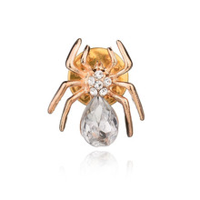 Collar Pins New Costume Rhinestone Spider Brooches Crystal Brooch Pins for Women Jewelry Halloween Gifts rhinestone faux gem halloween spider brooch