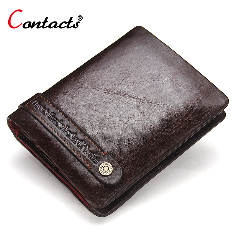 CONTACT'S Wallet Men Wallet Male Purse Genuine Leather Wallet For Credit Card Holder Coin Purse Money Bag Small Walet Men Clutch contact s brand coin purse men wallets leather genuine clutch male wallet small money bag coin pocket walet credit card holder