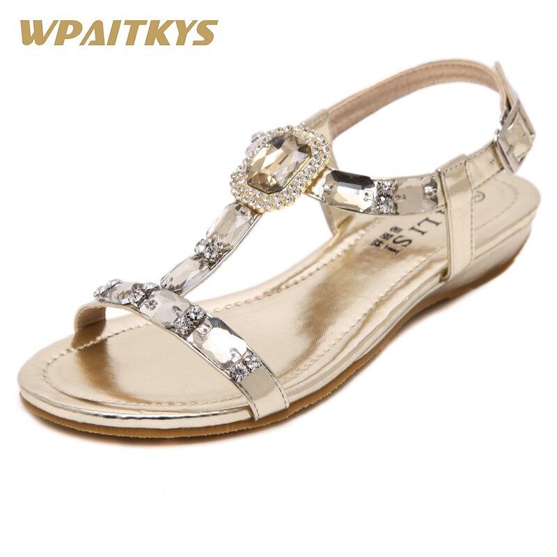 Naisten sandaalit kengät muotikengillä Kulta hopea kaksi väriä - Naisten kengät