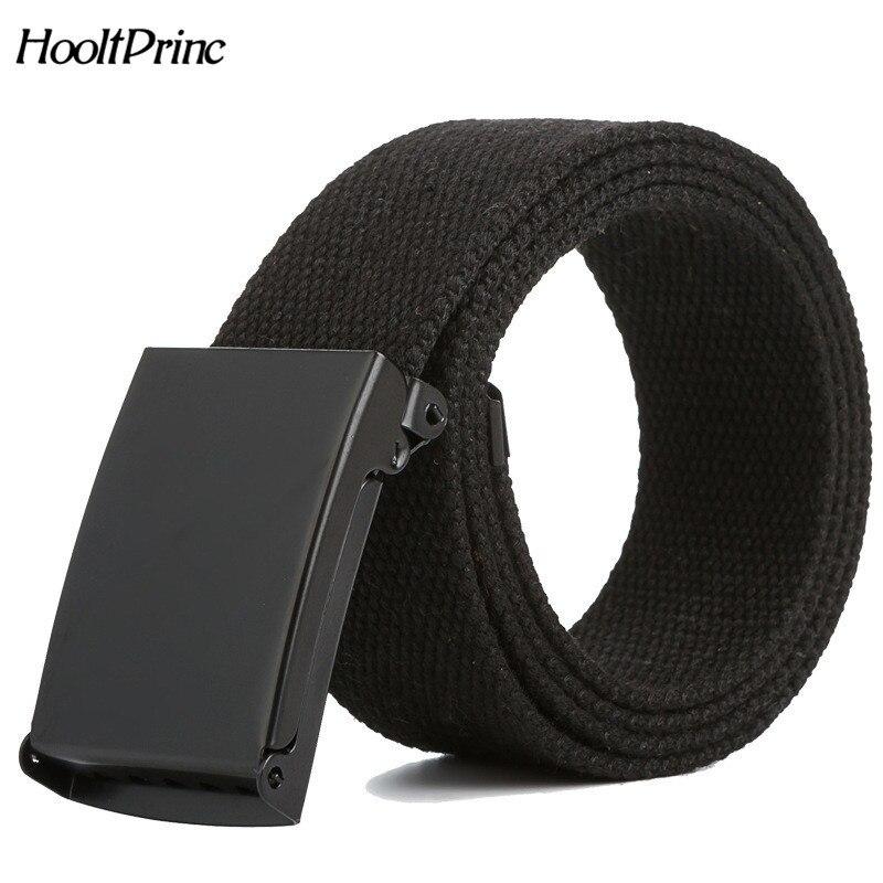 2019 Men's Canvas Belt Metal Tactics Woven Belt Canvas Belt Casual Pants Cool Wild Gift For Men Women Belt