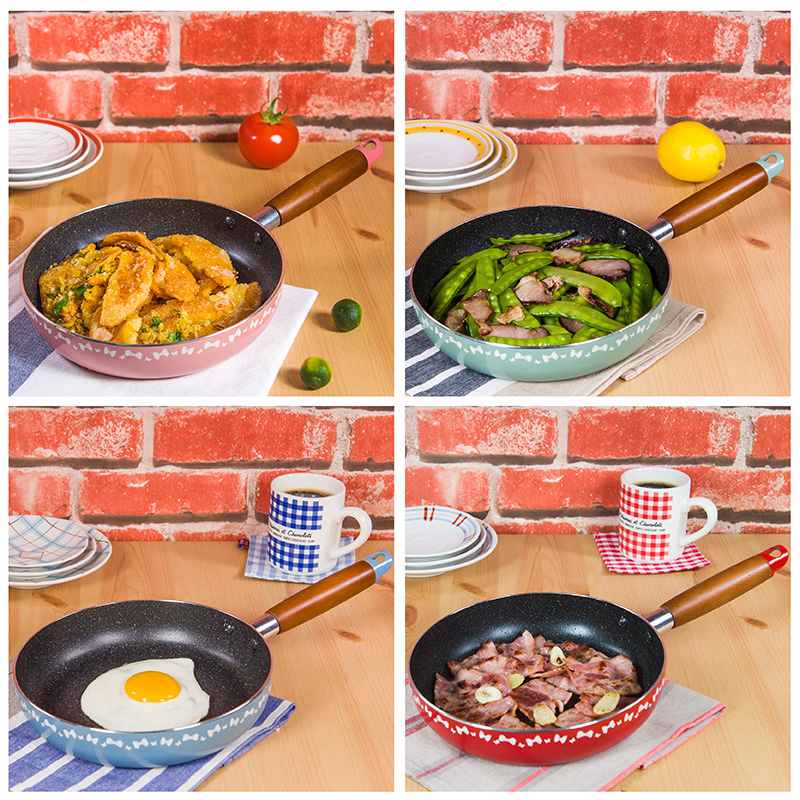 20 CM Non-stick Frying Pans No Oil-smoke General Use for Gas and Induction Cooker Egg Steak Frying Pan Cooking Helper