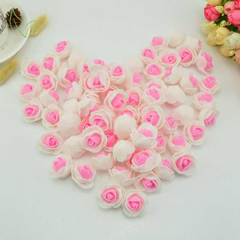 50pcs Foam fake flower pe roses head artificial flowers cheap wedding decoration for scrapbooking gift box diy wreath Multi-use