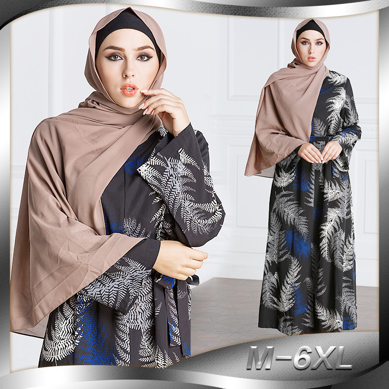 Fashion Women Muslim Dress Big Size 7XL Printed Patchwork Abaya Turkish Dubai Middle East Islamic Dresses -in Islamic Clothing from Novelty & Special Use on Aliexpress.com | Alibaba Group
