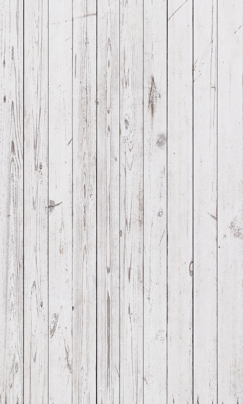 Huayi Vintage White Wooden Floor Photography Art Fabric