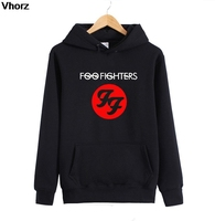 Winter FF Foo Fighters Printing Men Sweatshirt Long Sleeve Cotton Casual O Neck FF Rock Band