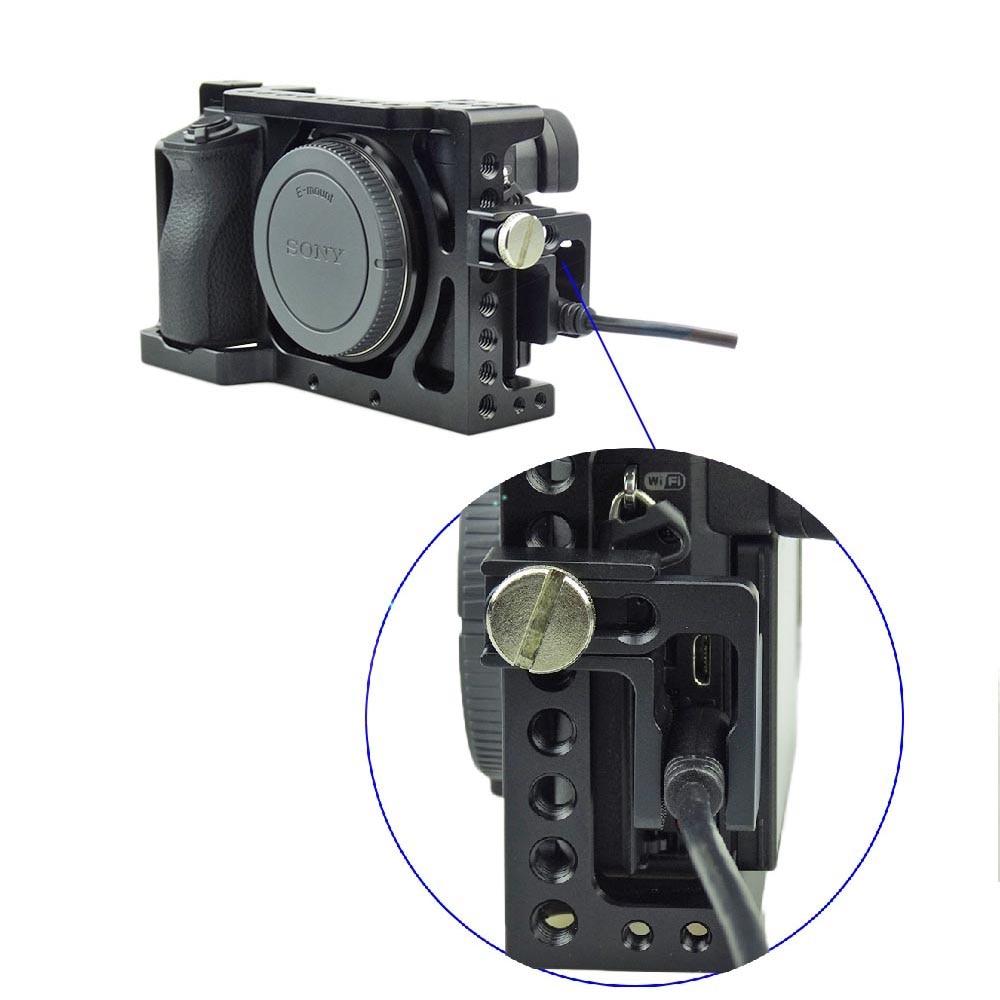 ACCSTORE Aluminiumlegierung HDMI Kabelklemme für Sony A6500/A6300 ...