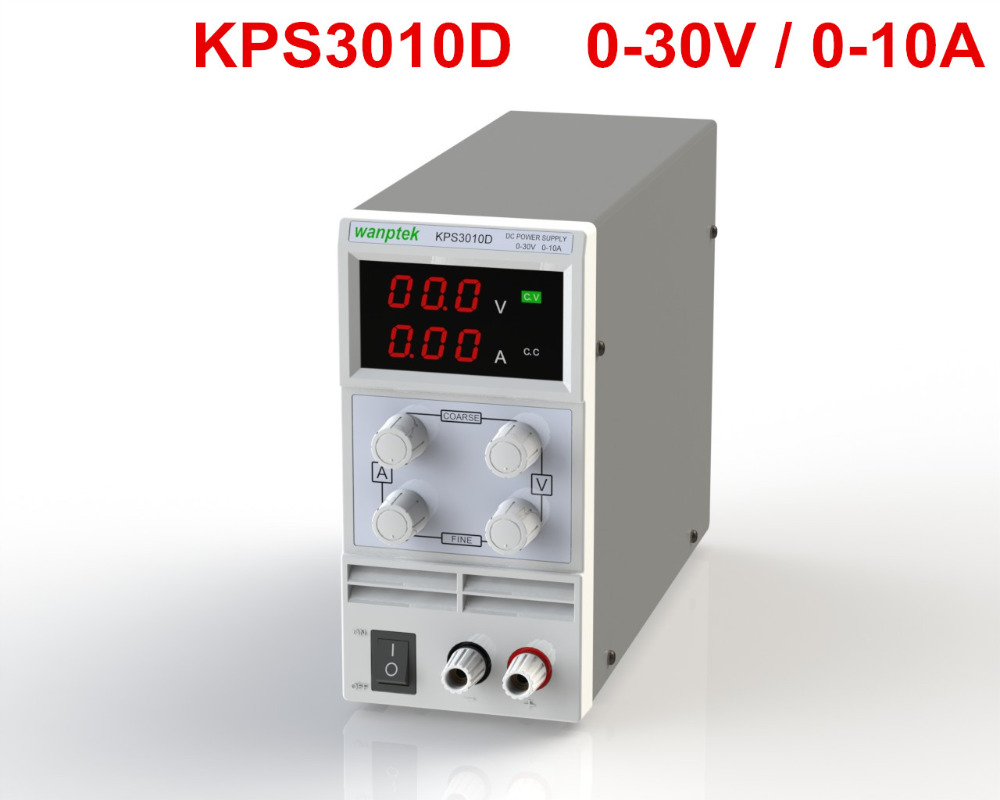 Free shipping KPS3010D Adjustable High precision double LED display switch DC Power Supply protection function 30V10A