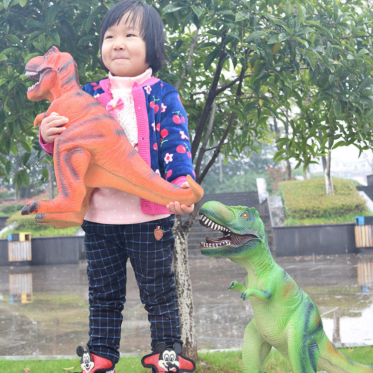 Big Size 65cm Dinosaur Toy Action Figures Tyrannosaurus Rex Soft Animal Model Boy Toy for Children Birthday Gift 2017 new 1 6 1 6 12 action figures g43 sinper rifle tactical gun christmas gift free shipping boy toy birthday present