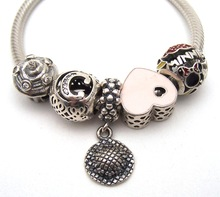 SSVWG253 5X 100% Authenticity S925 Sterling Silver Beads SilverBead Fit European Charms Bracelet diy jewelry Lampwork