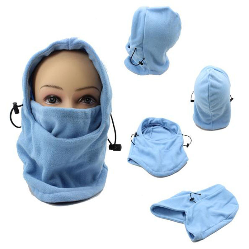 Ski Bike Wind Winter Stopper Face Mask For Skullies & Beanies Out Door Sports pure blue color Thermal Fleece Balaclava Hat защитные накладки для дома happy baby фиксатор для двери pull out door stopper