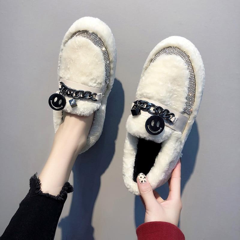 c80229f53 Noir Neige Slip Peluche Chaussures blanc Chaudes Bottes Étanche ...