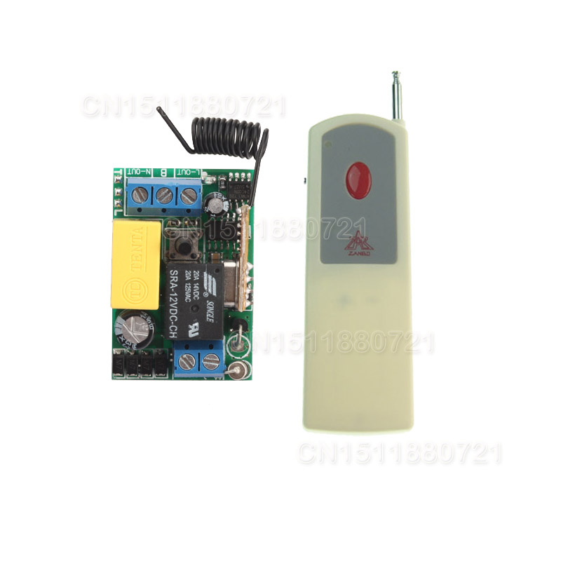200-3000M wireless switch 220V 1CH Wireless Receiver&Transmitter Momentary. Toggle is adjustable dc12v rf wireless switch wireless remote control system1transmitter 6receiver10a 1ch toggle momentary latched learning code