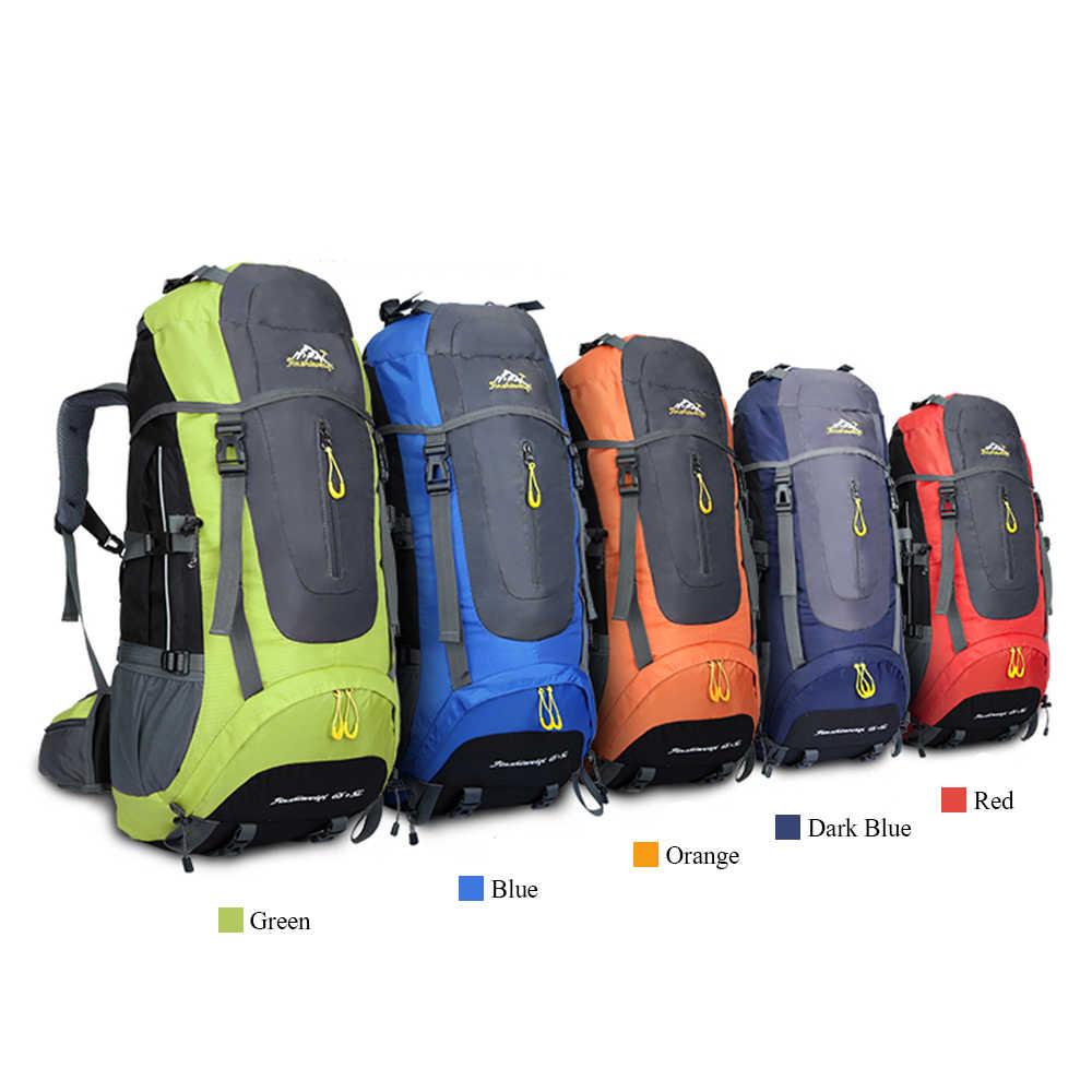 65L + 5L mochila al aire libre impermeable escalada senderismo mochila paquetes Trekking viaje Camping montañismo mochila bolsa de deporte