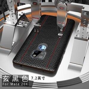 Image 1 - Del Cuoio genuino di Lusso di Caso Per Huawei Mate 20 Pro Compagno di 20 X 20X Pelle Bovina Pieno di Protezione di Sostegno Della Copertura di adsorbimento magnete