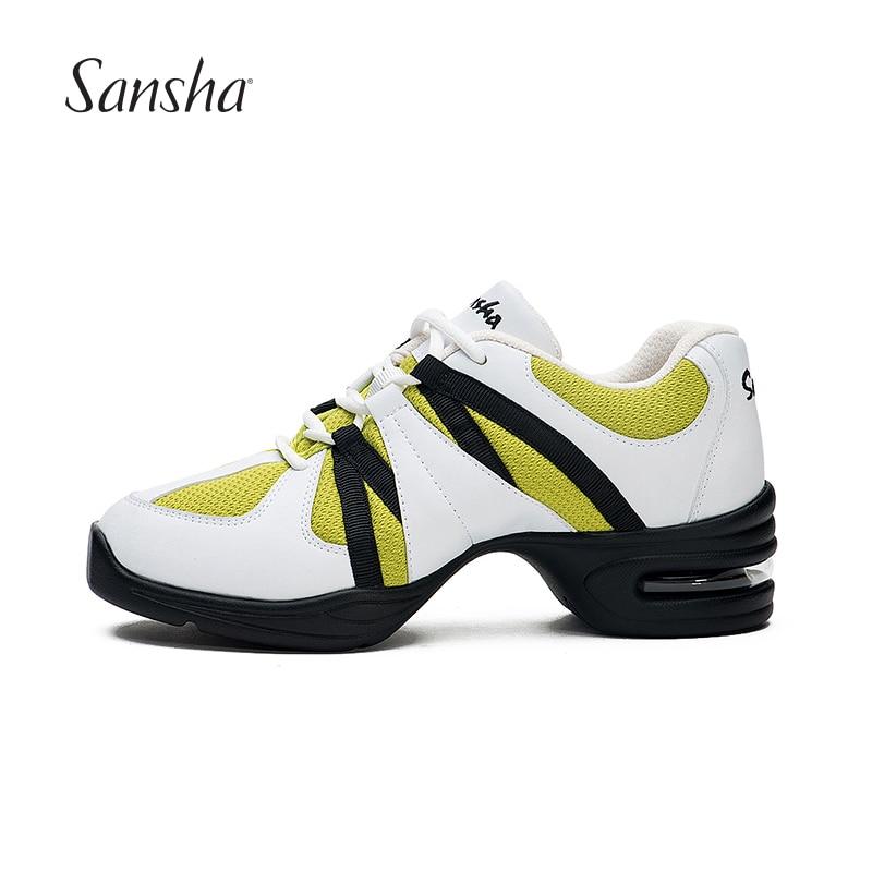 Original Sansha Men Women Dance Sneakers Mesh Breathable Modern Dance Shoes Hip Hop Salsa Jazz Sport