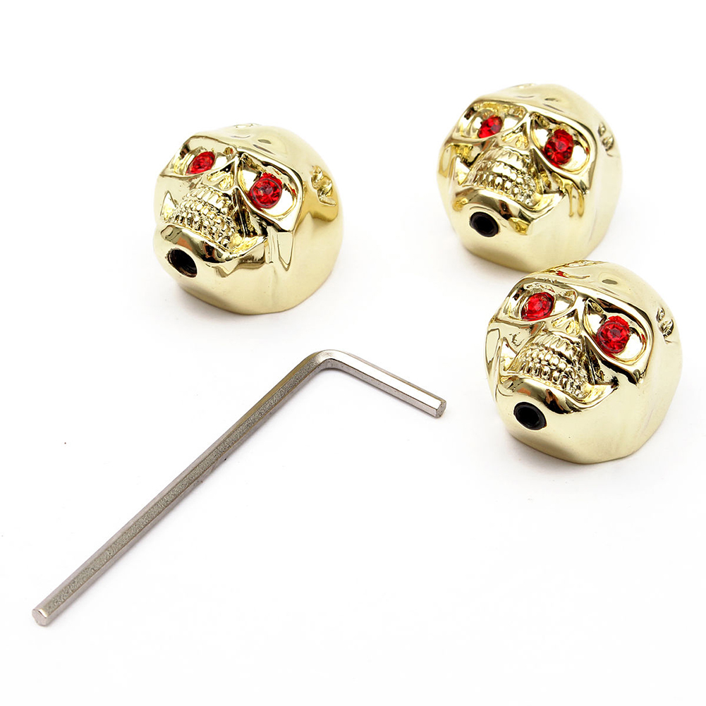 3X skull head volume knobs For Electric guitars include one wrench color: Gold quicktime toolkit volume one