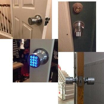 Codierte Türschlösser   RAYKUBE Knopf Digitale Code Elektronische Türschloss Bluetooth APP Passwort Keyless Opeing Geben Sie Smart Live Wasserdichte IP65