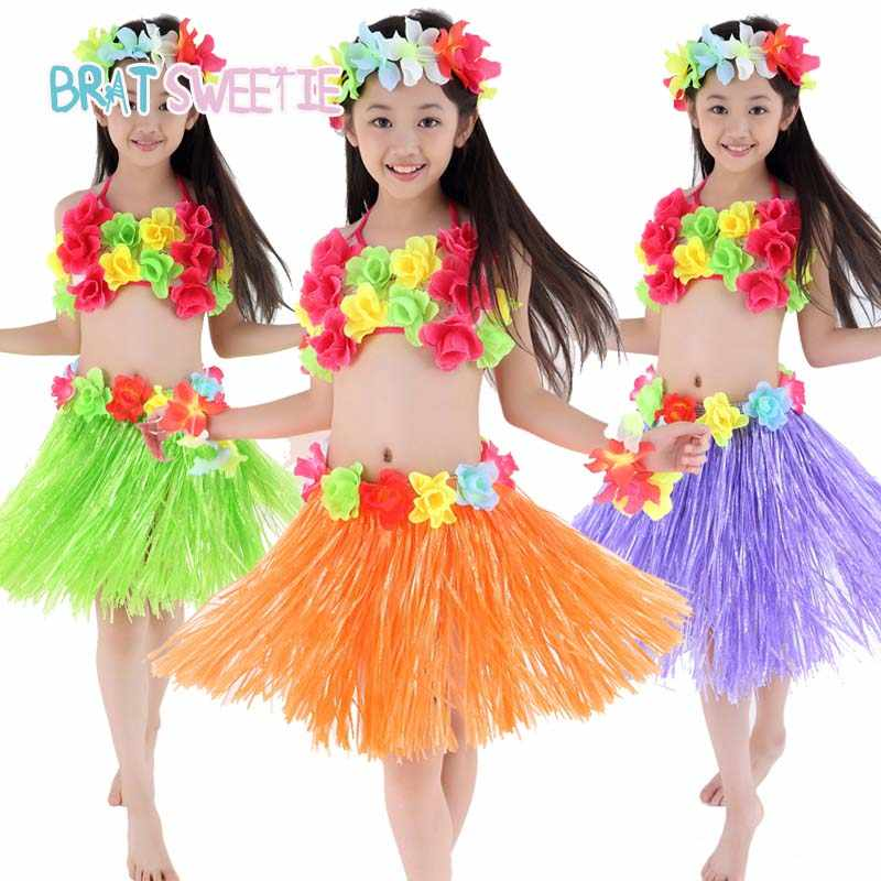 Delightful Detail Feedback Questions About Hawaii Party Decorations Adult Beach Flower  Necklace Wreath Hula Hawaiian Skrit Dress Kids Girls Costume Birthday Party  ...