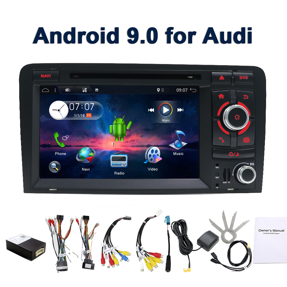 For Audi A3 S3 2006 2011 2 din android 9 0 car multimedia dvd player GPS