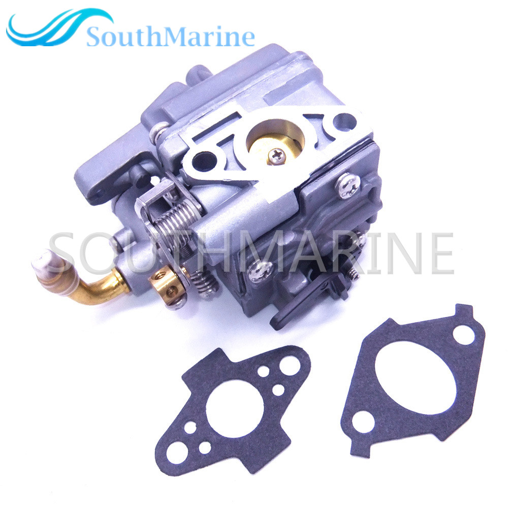 Outboard Engine 69M 14301 10 Carburetor Assy and 69M E3645 A0 69M E3646 A0 Gaskets for