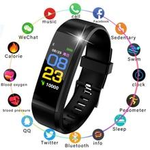 LIGE New Smart Sports Watch Men Women Wristband fitness Pedometer Sleep Heart Rate blood pressure Monitoring Smart Bracelet+Box