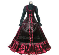 Victorian Gothic Punk Lolita Ball Gown Prom Steampunk Dress Elegance Bowknot And Ruffles Decorated High Quality Classical Dress