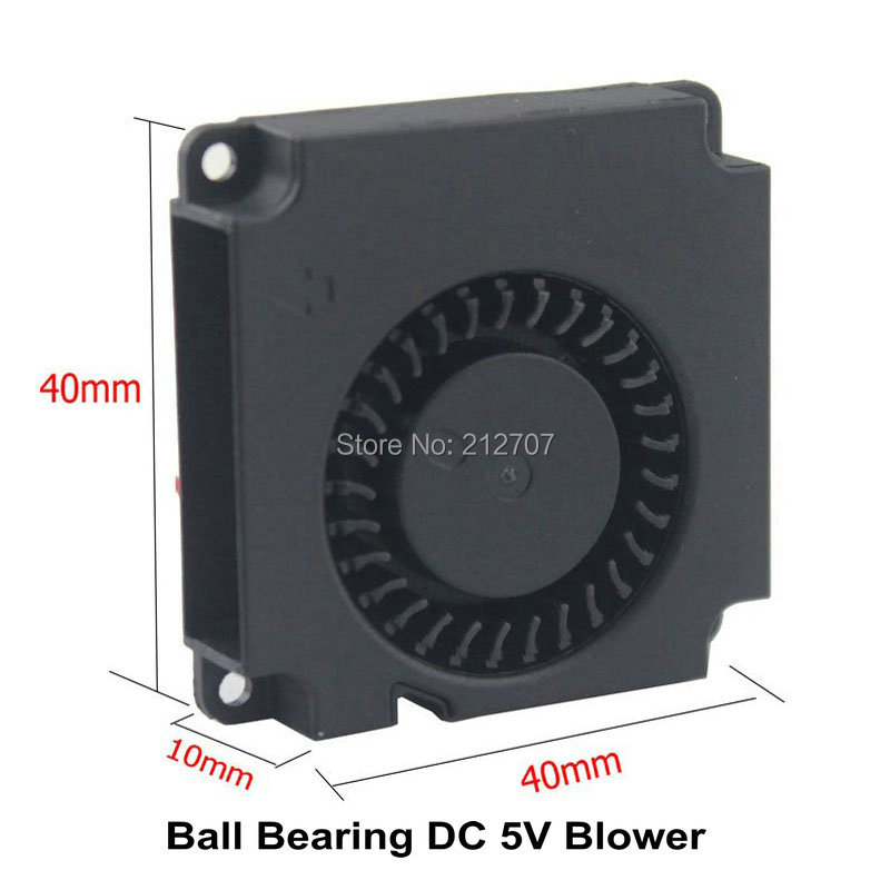 Купить с кэшбэком 2Pcs Gdstime 3D Printer Part Fan 2 Pin 5V 40mm 40x40x10mm 4cm Mini Radial Cooling Turbo Blower