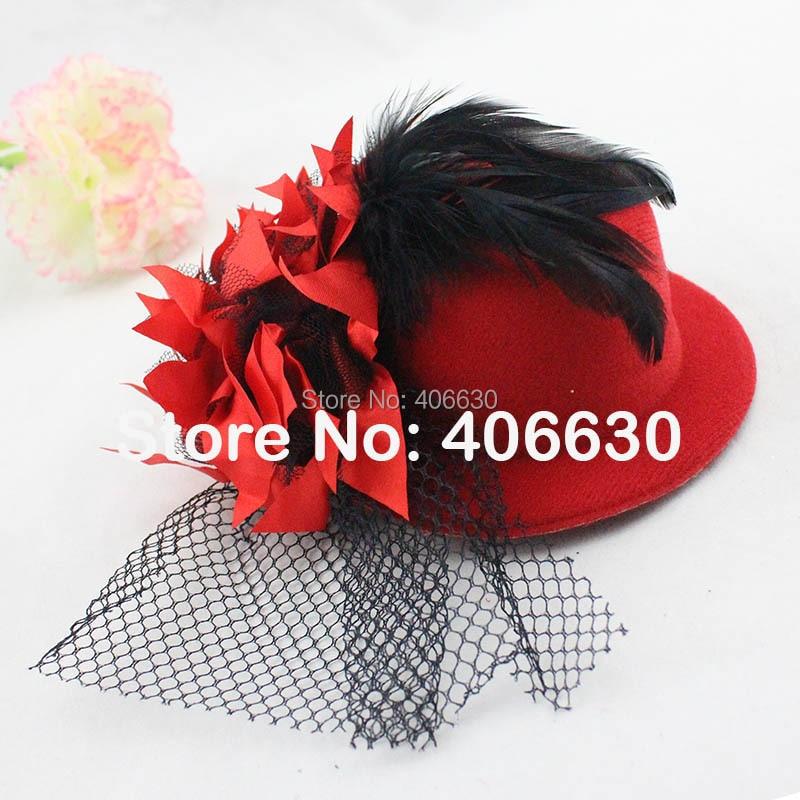 bd781a59074b1 5 mini Top Hat sombrero pequeño fascinators pelo de las mujeres recortado  Accesorios 12 unids lote envío libre mff13-011