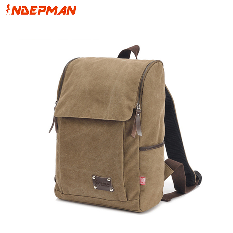 Retro Canvas Backpack for Men Large Capacity School Bag for Teenage Boys 14 inches Notebook Rucksack Black Coffee sosw fashion anime theme death note cosplay notebook new school large writing journal 20 5cm 14 5cm