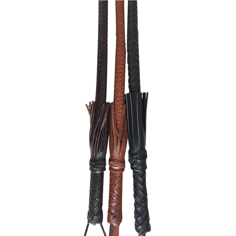 80cm Hand Made Braided Riding Whips for Horse Racing Outer Leather Equestrian Horse Whip Riding Crop 1