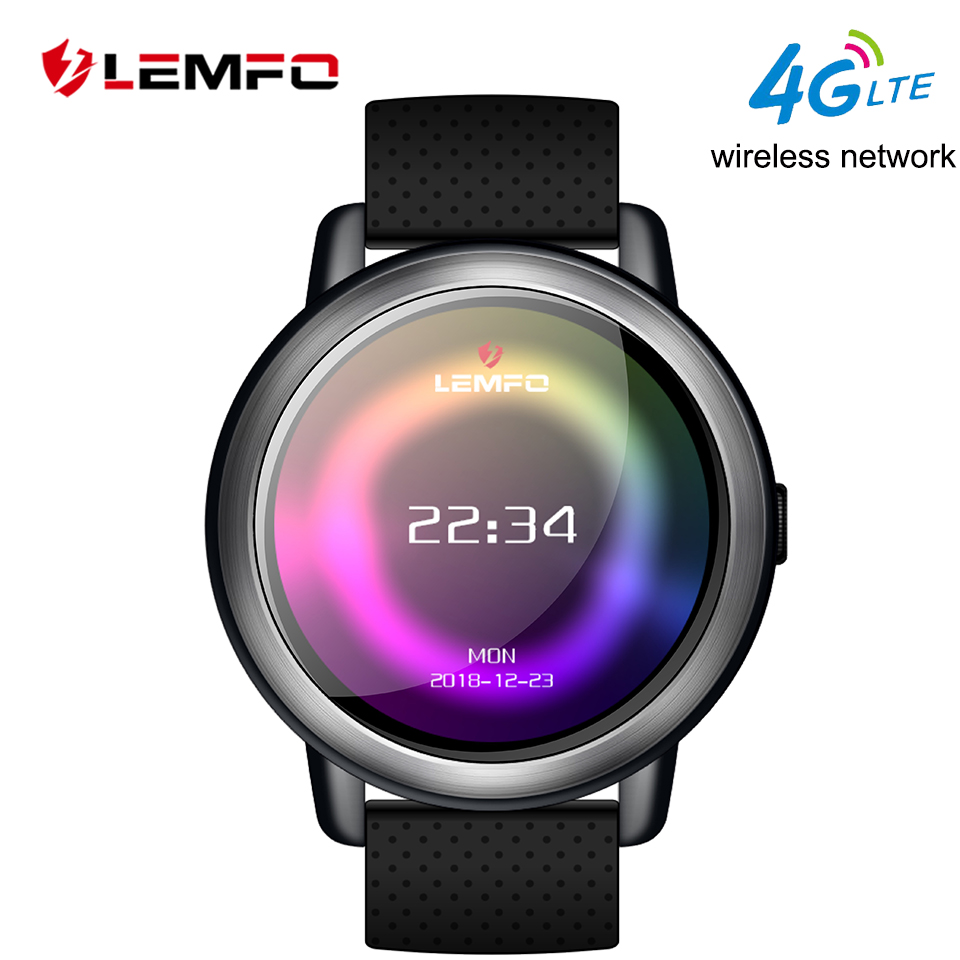LEMFO LEM8 Montre Smart Watch Android 7.1 LTE 4g Sim WIFI 1.39 pouce 2MP Caméra GPS Coeur Taux IP67 Étanche smartwatch pour Hommes Femmes