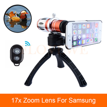 Cheap price 2017 Phone Lentes Kit 17x Telephoto Telescope Lenses Optical Zoom Lens For For Samsung Galaxy S3 S4 S5 S6 S7 iPhone Cases Tripod