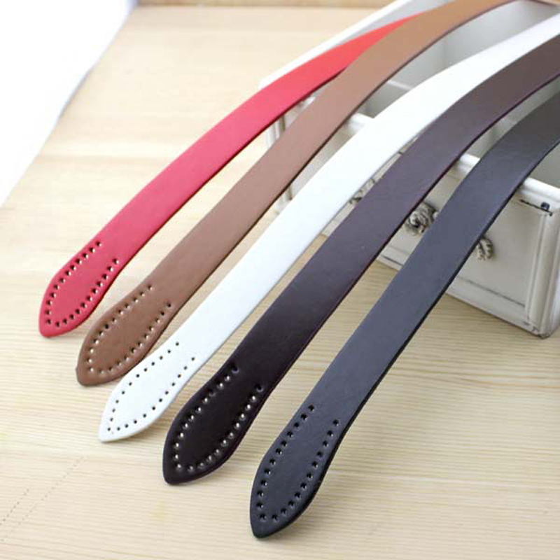 60cm Hand Sewing Simple Leaves Vertical Bar Imitation Leather Handle PU Shoulder Bag Belt Bale Handle DIY Accessories KZ0006