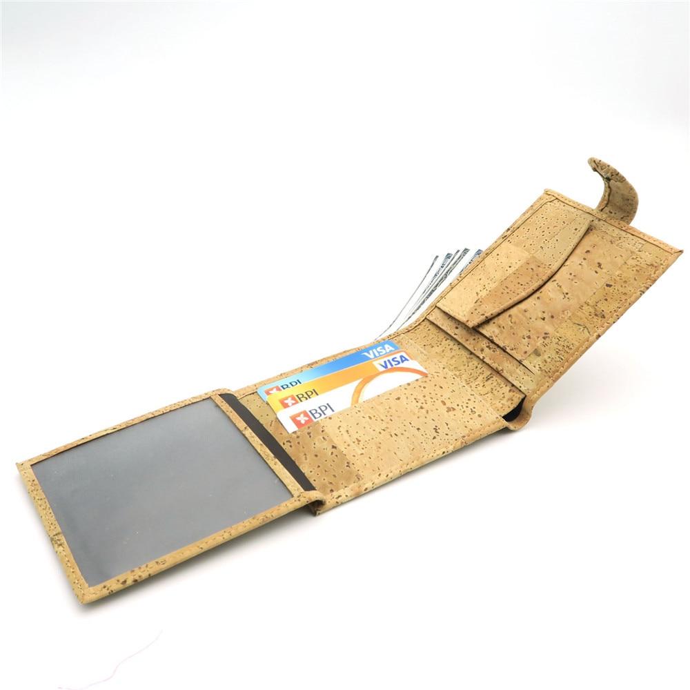 Natural Cork Plånbok för män cork vegan handgjorda avslappnade - Plånböcker - Foto 3