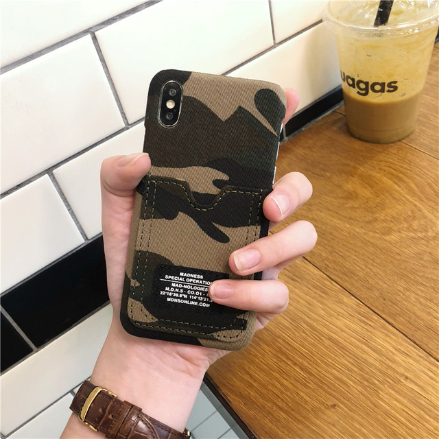 Hot Limited 2019 Edition Camouflage Phone Case With Card Holder For iPhone 2