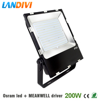 200w led flood light outdoor Osram led chip ultrathin 5years warranty IP65 waterproof spot lighting with Mean well driver