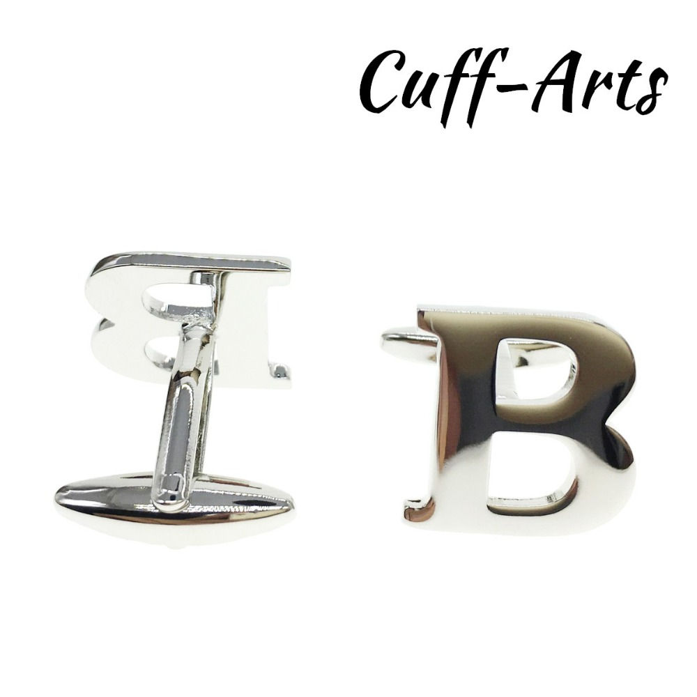 Cuffarts A Z Alphabet Cuff links Letters Cufflinks Personality Mix Match Choose 2 Different Letters For Initials C10072 in Tie Clips Cufflinks from Jewelry Accessories