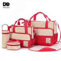 39 28 5 17cm 5pcs baby diaper bag suits for mom baby bottle holder fashion mother.jpg 200x200