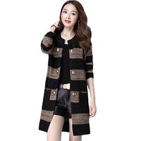 ربيع الخريف 2017 جديد الموضة حجم كبير النسخة الكورية سترة فضفاضة بالأزرار feminino جيوب مزدوجة الصدر معطف رقيقة XH070