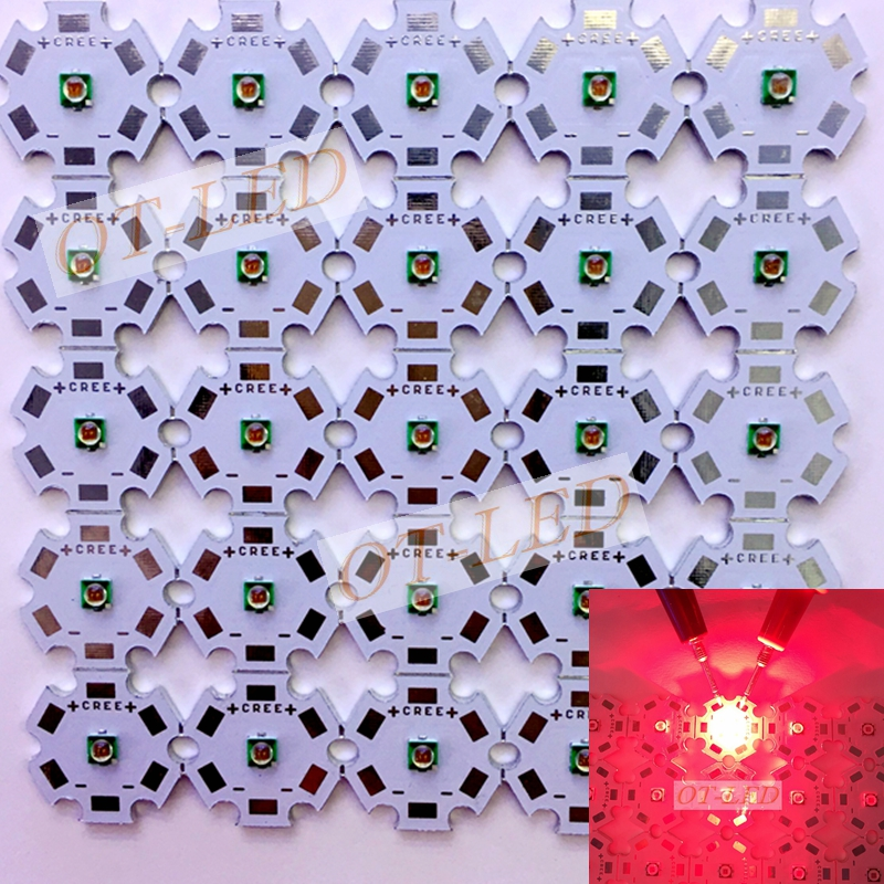 Freeshipping! Hot sale 10PCS Epistar 3W Deep Red High Power 660NM Plant Grow LED Light f ...