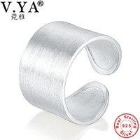 Bán buôn Thực 100% Nguyên 925 Sterling Silver Ring cổ điển wedding ring fine trang sức nam/phụ nữ trang sức mở kích thước rigent vòng