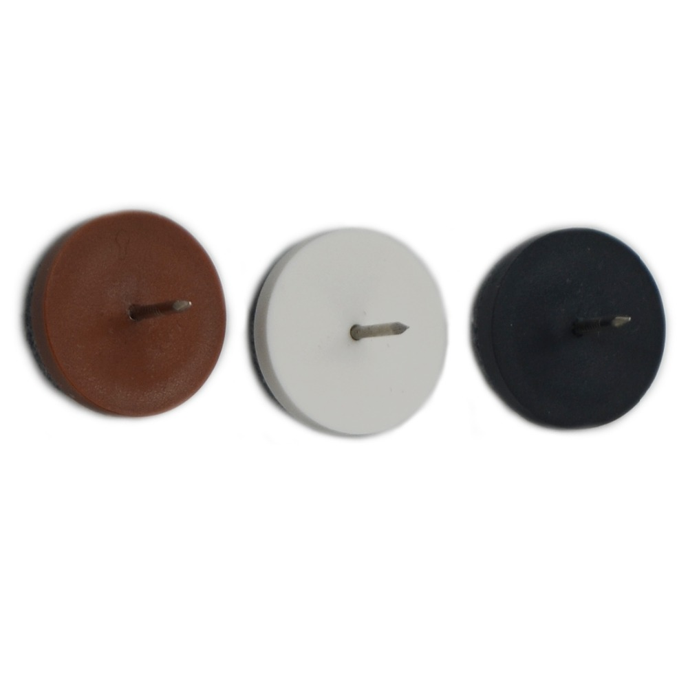 12pcs 24mm Mix 3 Colors Different Sizes Chair Round Felt Glide Nail Soft  Bottom Furniture Feet