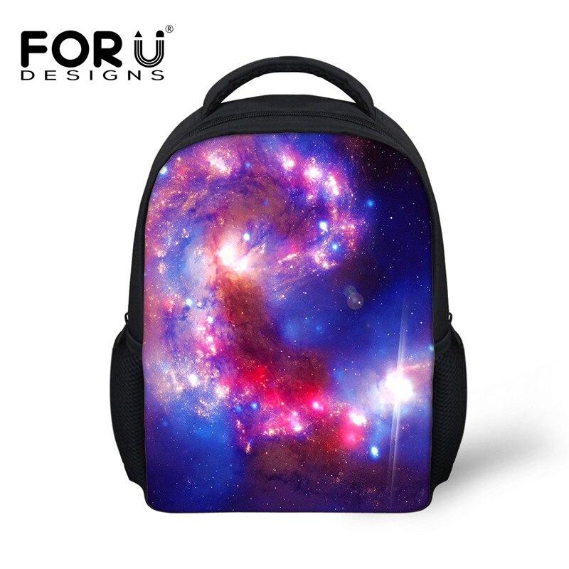 FORUDESIGNS Galaxy Printing Baby Kids Schoolbags,Boy Girl Small Preschool School Bag,Mini Children Kindergarten Book Backpack