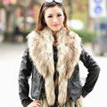 Good quality! 2014 autumn and winter women's Large faux fox fur raccoon fur collar muffler scarf cape warm thicken scarf 140cm